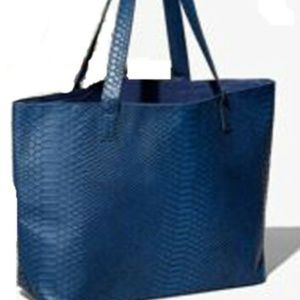 Bloomingdale's Faux Python Leather Tote Bag